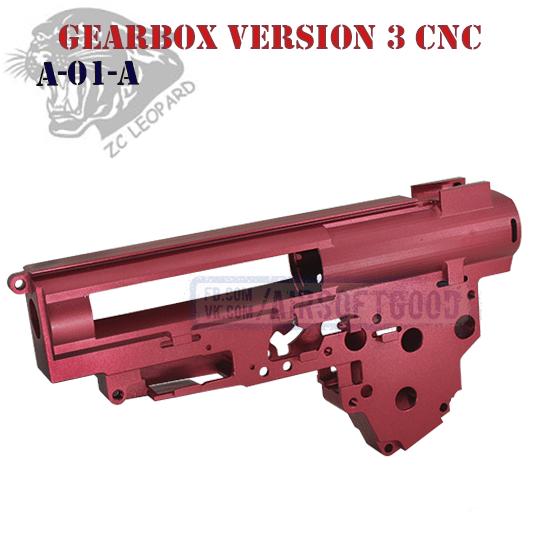 Gearbox Shell Version 3 8mm Aluminum CNC ZC Leopard A-01 Алюминиевый гирбокс