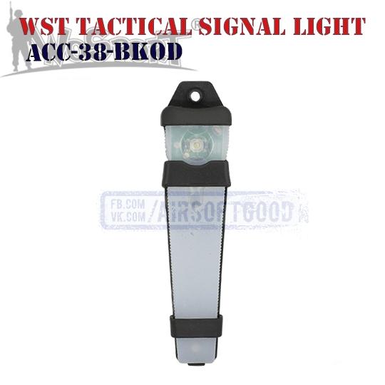 WST Tactical Signal Light Olive Black WoSporT ACC-38-BKOD