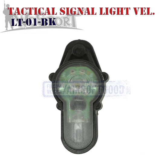 Tactical Signal Light Red Velcro Black WoSporT LT-01-BK