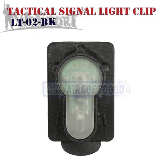 Tactical Signal Light Red Clip Black WoSporT LT-02-BK