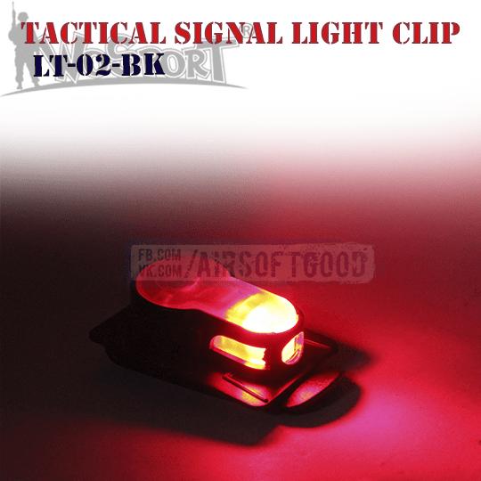 Tactical Signal Light Red Clip Black WoSporT (LT-02-BK)