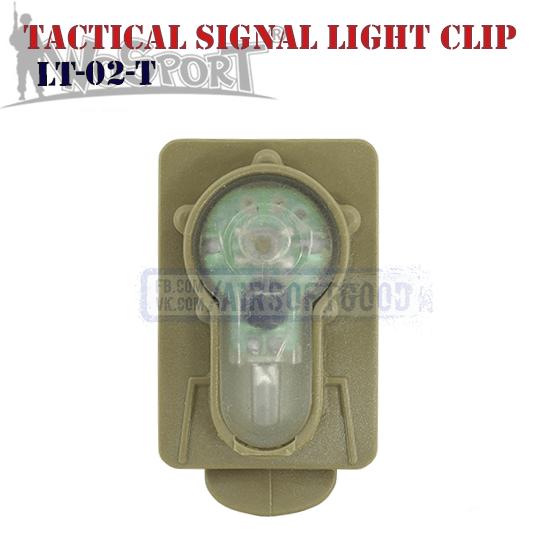 Tactical Signal Light Red Clip TAN WoSporT LT-02-T
