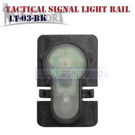 Tactical Signal Light Red Helmet Rail Black WoSporT LT-03-BK