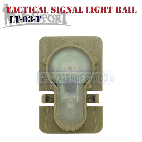 Tactical Signal Light Red Helmet Rail TAN WoSporT LT-03-T