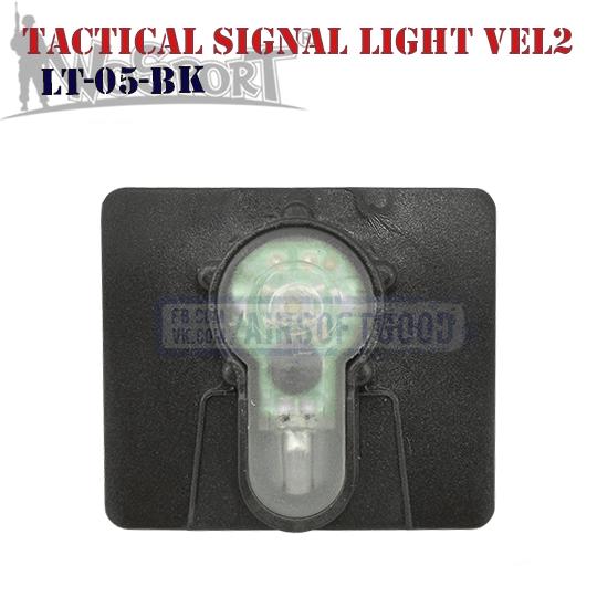 Tactical Signal Light Red Velcro 2 Black WoSporT LT-05-BK