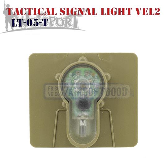 Tactical Signal Light Red Velcro 2 TAN WoSporT LT-05-T