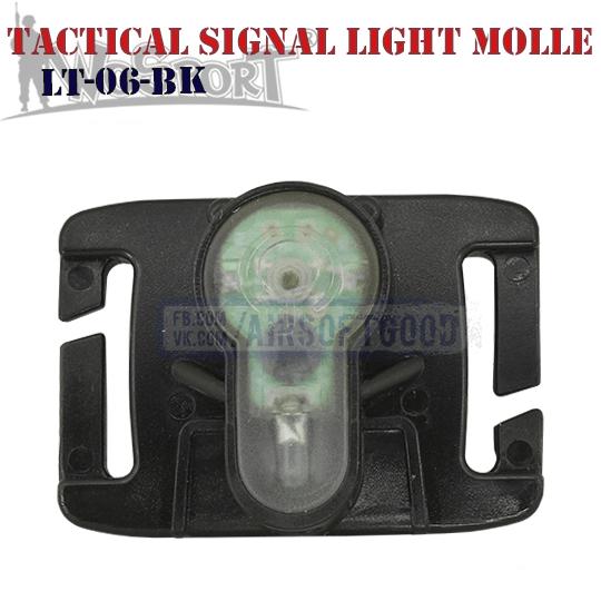 Tactical Signal Light Red MOLLE Black WoSporT LT-06-BK