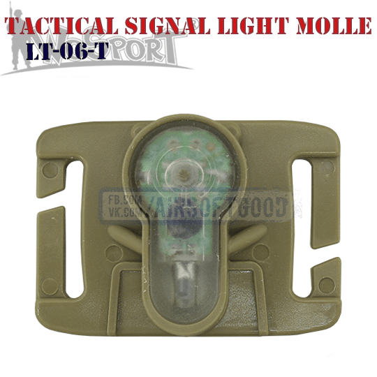 Tactical Signal Light Red MOLLE TAN WoSporT LT-06-T
